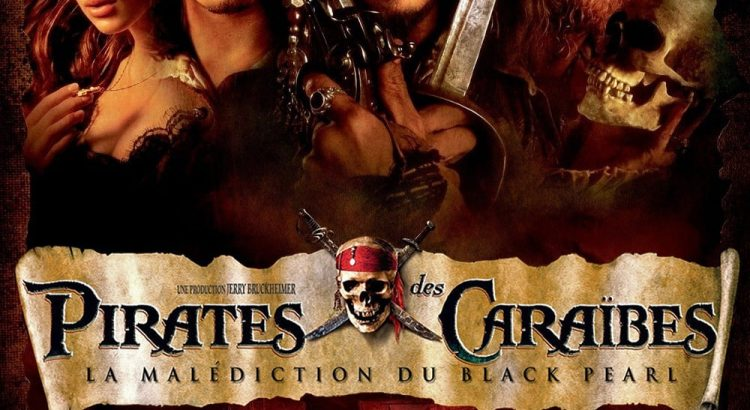 "Affiche du film ""Pirates des Caraïbes : La Malédiction du Black Pearl"""