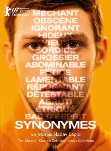 """Affiche du film """"Synonymes"""""""